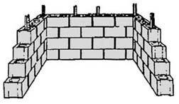 drawing of a concrete-block holding unit