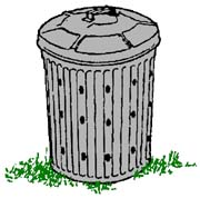 drawing of a garbage-can composter