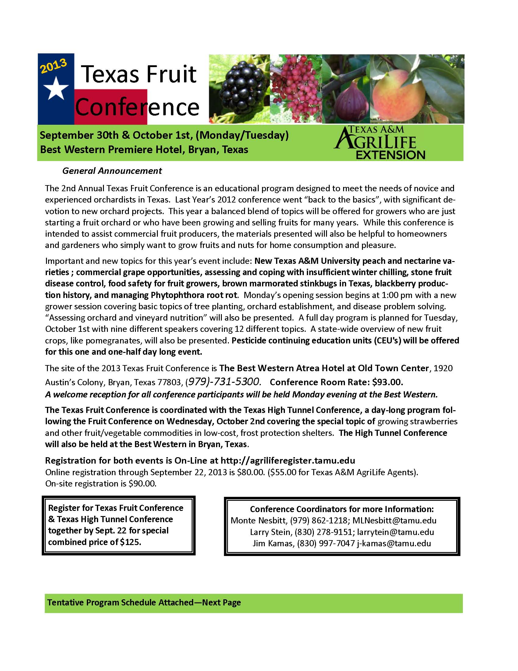 2013 Texas Fruit Conference Agenda Posted | Fruit & Nut Resources