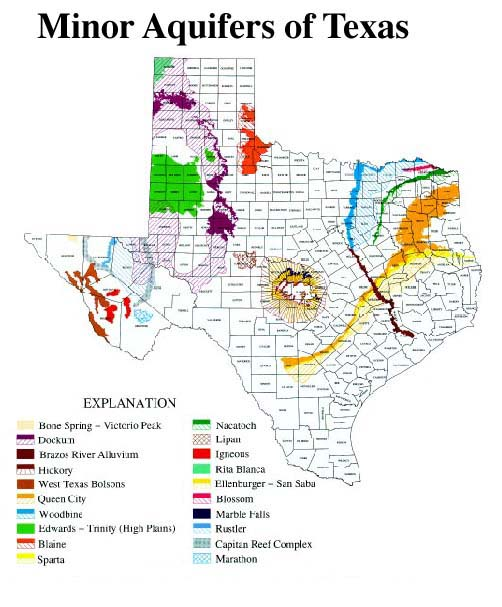 Major Aquifers Of Texas Related Keywords Amp Suggestions