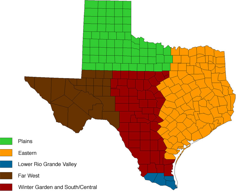 Appendix 1. Descriptions of geographic regions in Texas ...