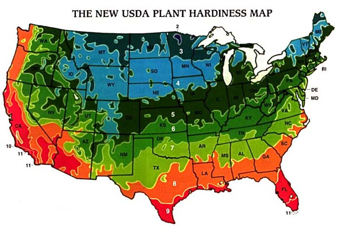 Refer To The Usda Hardiness Zone Map